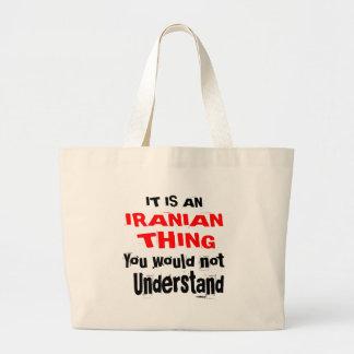 ES IST IRANISCHE SACHE-ENTWÜRFE JUMBO STOFFBEUTEL