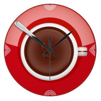 Es ist Kaffee-Zeit-um Wanduhr