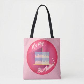Es ist meine rosa Geburtstags-Kuchen-Tasche durch Tasche
