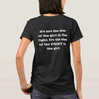 Es ist nicht die Größe des Mädchens im Kampf - T-Shirt