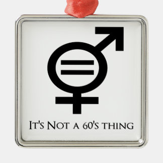 Es ist nicht eine 60er Sache Silbernes Ornament