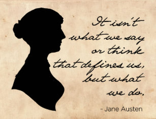 Jane Austen Zitate Postkarten Zazzle De