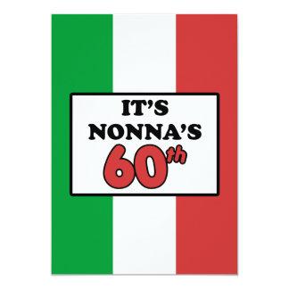 Es ist Nonnas 60. Geburtstags-italienische Flagge Karte