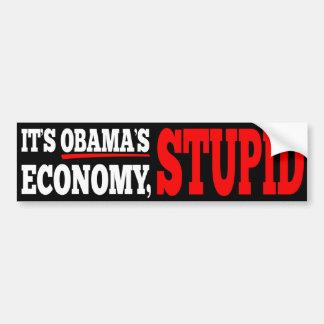 Es ist Obamas Wirtschafts-dummer schwarzer Autoaufkleber
