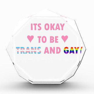 Es ist okay, Transport und Homosexuelles (v1) zu Acryl Auszeichnung