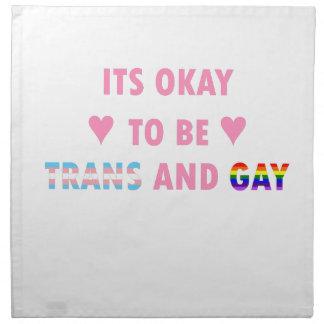 Es ist okay, Transport und Homosexuelles (v1) zu Stoffserviette