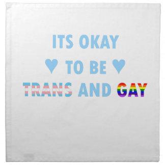 Es ist okay, Transport und Homosexuelles (v2) zu Serviette