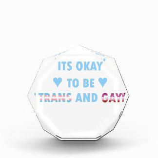 Es ist okay, Transport und Homosexuelles (v3) zu Acryl Auszeichnung
