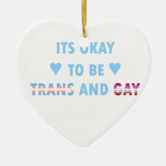 Es ist okay, Transport und Homosexuelles (v3) zu Keramik Ornament