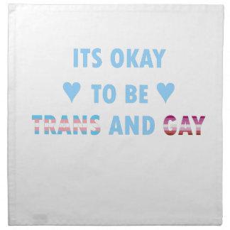 Es ist okay, Transport und Homosexuelles (v3) zu Stoffserviette