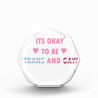 Es ist okay, Transport und Homosexuelles (v4) zu Acryl Auszeichnung