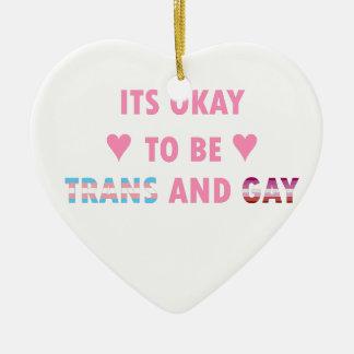 Es ist okay, Transport und Homosexuelles (v4) zu Keramik Ornament