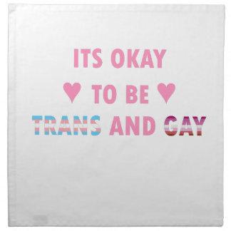 Es ist okay, Transport und Homosexuelles (v4) zu Stoffserviette