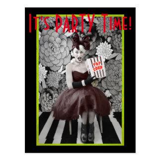 Es ist PARTY Zeit! Postkarte