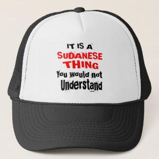 ES IST SUDANISCHE SACHE-ENTWÜRFE TRUCKERKAPPE