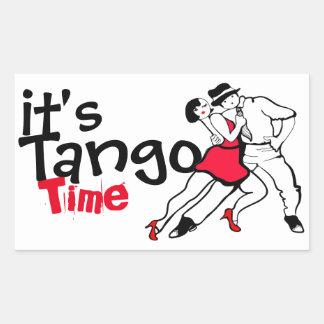 Es ist Tango-Zeit Rechteckiger Aufkleber