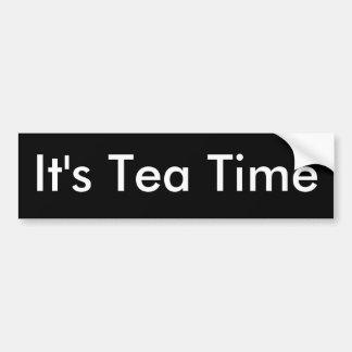 Es ist Tee Zeit-Stoßdämpfer Aufkleber Autoaufkleber