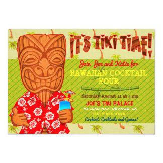 Es ist Tiki Zeit Luau Cookout-Party Karte