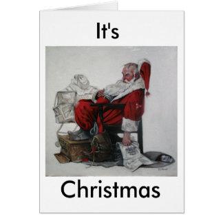 Es ist Weihnachten Karte