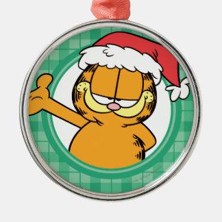 Es ist Weihnachten! Rundes Silberfarbenes Ornament