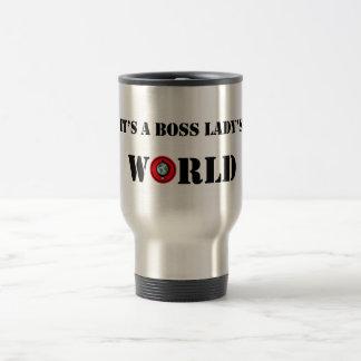 Es ist World Travel Mug einer Chef-Dame Edelstahl Thermotasse