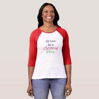 Es ist Zeit für ein Weihnachtsfilm-Feiertags-Shirt T-Shirt
