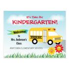 Es ist Zeit für Kindergarten, Schulbus Postkarte