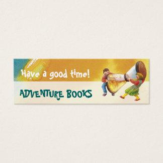 Es ist Zeit für Spaß-Lesezeichen für junge Mini Visitenkarte
