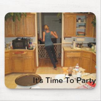 Es ist Zeit zur Party-Mausunterlage Mauspads
