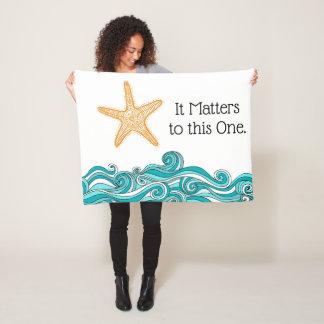 Es ist zu diesem einem Starfish von Bedeutung Fleecedecke