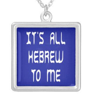 Es ist zu mir ganz hebräisch versilberte kette