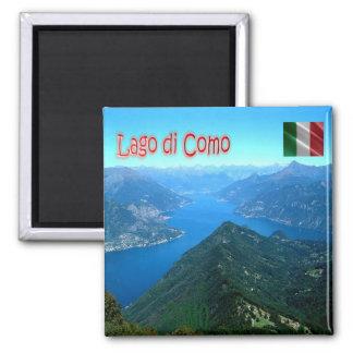 ES - Italien - Como - See gesehen von Monte San Quadratischer Magnet