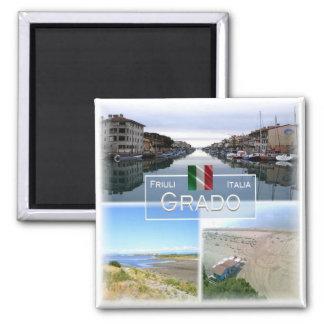 ES Italien # Friuli Venezia Giulia - Grado - Quadratischer Magnet
