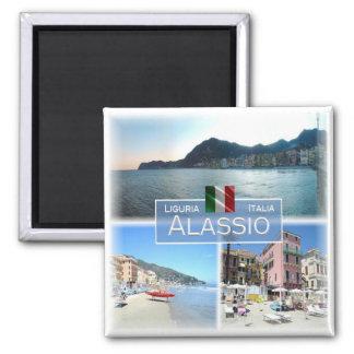 ES Italien # Ligurien - Alassio - Quadratischer Magnet
