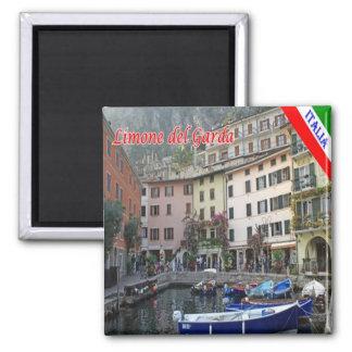 ES - Italien - Limone Del Garda - Hafen Quadratischer Magnet