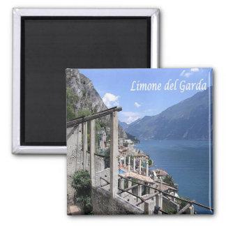 ES - Italien - Limone Del Garda - Panorama Quadratischer Magnet