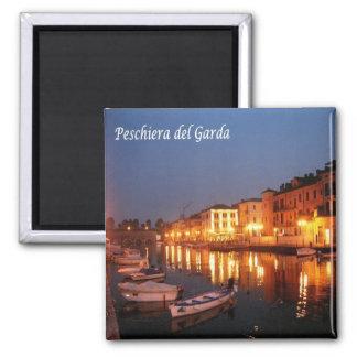 ES - Italien - Peschiera Del Garda - Panorama Quadratischer Magnet