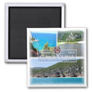 ES # Italien - Sardinien - Baunei - Bucht Luna - Quadratischer Magnet