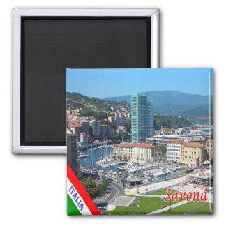 ES - Italien - Savona - touristischer Hafen Quadratischer Magnet