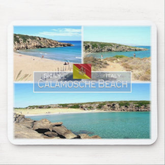 ES Italien - Sizilien - Calamosche Strand - Mousepad