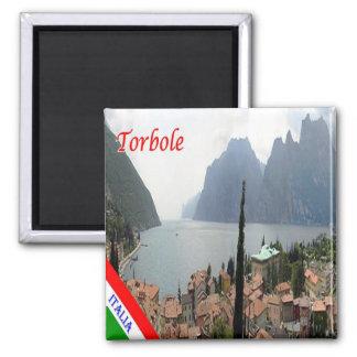ES - Italien - Torbole - Panorama Quadratischer Magnet