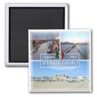 ES Italien # Toskana - Viareggio - Quadratischer Magnet