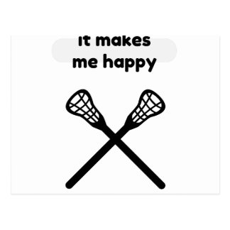 Es macht macht mich Glücklich-Lacrosse Postkarte