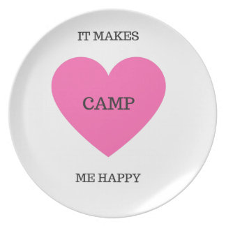 Es macht mich glückliches Lager Melaminteller
