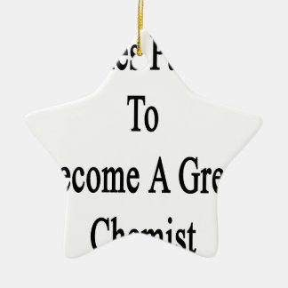 Es nimmt Leidenschaft, um einem großen Chemiker zu Keramik Stern-Ornament