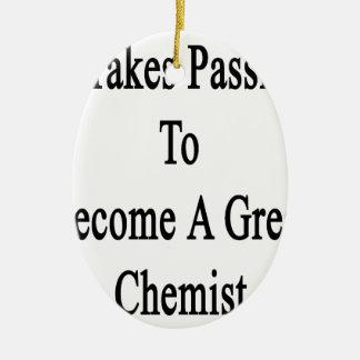 Es nimmt Leidenschaft, um einem großen Chemiker zu Ovales Keramik Ornament