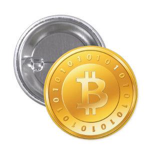Es plattiert Bitcoin - M1 Runder Button 2,5 Cm
