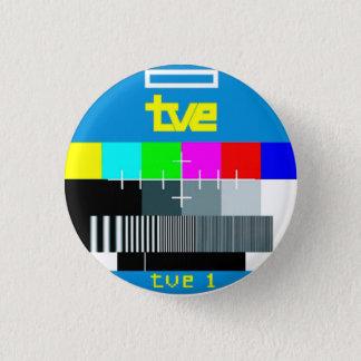 Es plattiert die 80 Jahre Testbild RetroCharms Runder Button 3,2 Cm