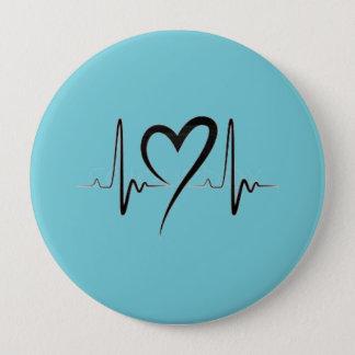 es plattiert runder button 10,2 cm