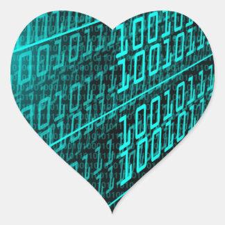 ES Programmierungsprogrammierer des binären Codes Herz-Aufkleber